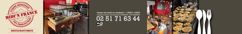 Restaurant MIDI'N FRANCE - Zone industrielle de Carquefou - 1 Impasse de la Hache - 44770 CARQUEFOU - 02 51 71 63 44